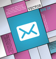 Mail envelope letter icon sign Modern flat style vector image