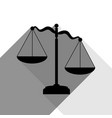 scales of justice sign black icon with vector image