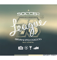 Soccer club emblem vector image