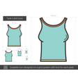 tank t-shirt line icon vector image