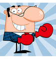 Teacher with punching gloves vector image