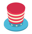 united states hat icon isometric 3d style vector image