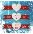 Valentines Day Labels Set vector image