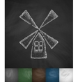 wooden mill icon vector image