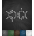 cell chemical formulas icon vector image