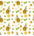 Ladybug Seamless Pattern vector image