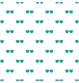 Blue sunglasses pattern cartoon style vector image