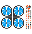 nanocopter screws rotaion icon with dating bonus vector image