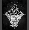hand drawn beautiful iceberg vector image