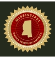 Star label Mississippi vector image
