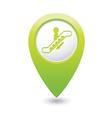 escalator icon green map pointer vector image vector image