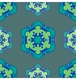 Blue seamless ethnic ornament vector image