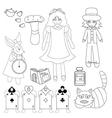 Alice in Wonderland vector image