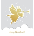 Christmas card with angel vector image
