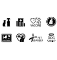 concept veterinary icons vector image