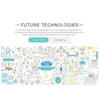 modern line flat design Future technology vector image