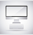 monitor computer keyboard device technology vector image