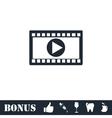 Movie icon flat vector image