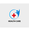 Pharmacy cross and hospital icon vector image