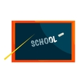 School blackboard icon cartoon style vector image