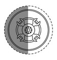 wheel car isolated icon vector image