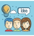 group person idea creative design vector image