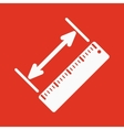 The diagonal measurement icon Ruler and vector image