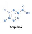 Acipimox lipid lowering agent vector image