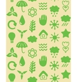 seamless pattern with eco icons vector image vector image