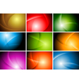 Bright abstract wavy backgrounds vector image vector image