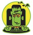 Frankenstein cartoon vector image vector image