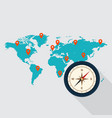 travel around the world concept flat design vector image vector image