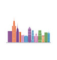 city panoramic skyline view urban architectural vector image
