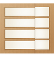 Paper banners on the cardboard background vector image