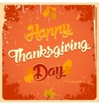 Happy Thanksgiving day vintage poster vector image vector image