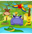 animals in jungle vector image