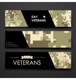 Set of modern design banner template in veterans vector image