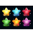 Cartoon colorful glossy stars vector image