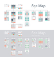 Site Map vector image vector image