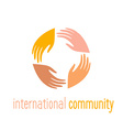 international community vector image