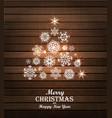 Christmas tree card Winter vector image
