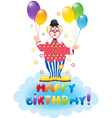 Clown with festive baloons vector image