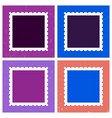 colored postage stamp template vector image