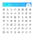 Education Line Icons Set vector image