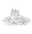 famous french castle landscape travel france vector image