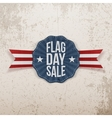 Flag Day Sale greeting Banner with Text and Shadow vector image