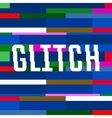 glitch background with text colorful vector image