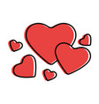 hearts and love vector image