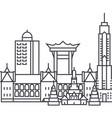 hongkong line icon sign on vector image