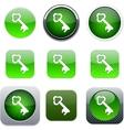 Key green app icons vector image